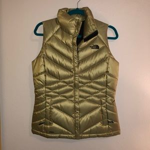 Light green North Face vest
